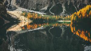 Landscape Nature Lake Water Reflection Forest Trees Mountains 6000x4000 wallpaper