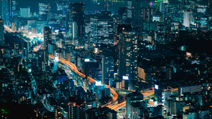 Tokyo Cityscape Photography Night Neon 7360x3084 Wallpaper