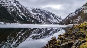 Nature Lake Snow 2560x1702 Wallpaper