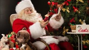 Christmas Gift Santa Stuffed Animal 4928x3280 wallpaper