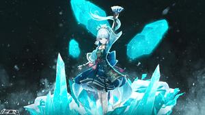 Kamisato Ayaka Genshin Impact Genshin Impact Anime Girls Anime Games Ice Snow 1920x1080 Wallpaper