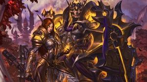 Armor Elf Pointed Ears Shield Warrior Woman Warrior World Of Warcraft 1920x1280 Wallpaper