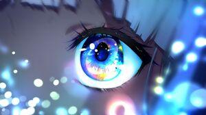 Eyes Anime Girls 2K 2560x1440 Wallpaper