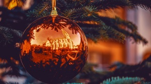 Christmas Ornaments Bauble Reflection 4896x3264 wallpaper