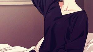 5 Toubun No Hanayome Pink Hair Vertical JK Long Sleeves Bangs Black Shirt Anime Girls Blue Eyes In B 1361x2048 Wallpaper