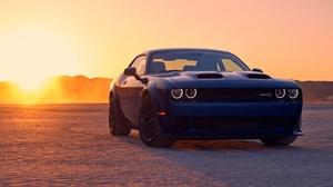 Blue Car Car Dodge Dodge Challenger Dodge Challenger Srt Muscle Car Vehicle 3000x1688 Wallpaper