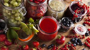 Berry Blueberry Currants Jar Still Life Strawberry 5616x3744 Wallpaper