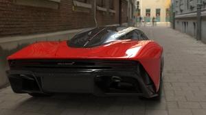 McLaren Speedster 2020 3D Graphics Red Candy Hypercar Car 8 K 7680x4993 Wallpaper