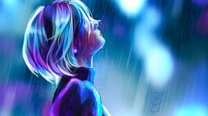 Ellis Court Digital Painting Video Game Art Artwork Women Video Game Girls Rain Night Fan Art Nier A 1920x1357 Wallpaper