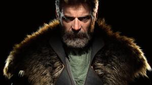 ArtStation CGi 3D Bounty Hunter Digital Art Fan Art Hugh Jackman Leather Clothing Fur Coats Leather  3072x2760 Wallpaper