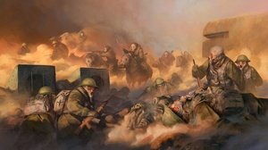 Cavalry Soldier Gas Mask 1920x1120 wallpaper