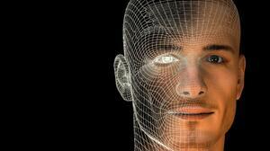 3d Black Eye Face Science 1600x1200 Wallpaper