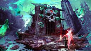 Ghost Skull Warrior 3600x2025 wallpaper