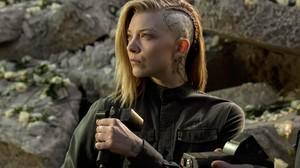 Natalie Dormer Hunger Games Braids Cressida Side Shave 6144x4096 Wallpaper