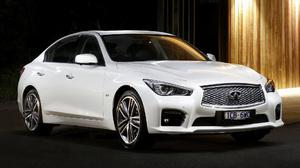 Car Compact Car Infiniti Q50 Luxury Car Sedan White Car 1920x1080 wallpaper