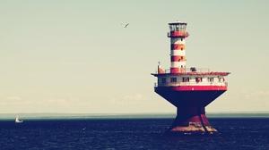 Man Made Lighthouse 1920x1080 Wallpaper