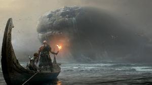 Atreus God Of War Kratos God Of War 5398x2976 wallpaper