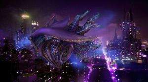 Futuristic City 3840x2342 wallpaper