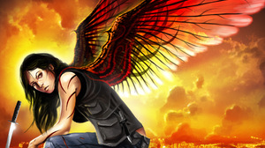Fantasy Angel Warrior 2400x1694 Wallpaper