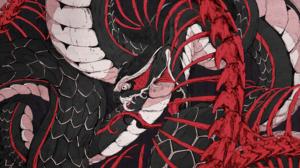 Snake Ouroboros Chun Lo Bones Serpent Digital Art Skeleton Artwork Scales Creature Fantasy Art Fangs 4000x2591 Wallpaper