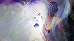 Girl Sphere White Hair 2600x2116 Wallpaper