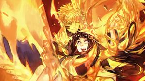 Anime Girls Artwork Digital Art Uzumaki Naruto Naruto Anime Hyuuga Hinata 2320x1440 Wallpaper