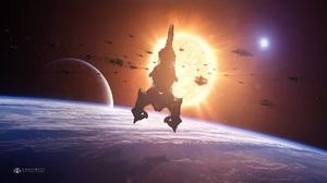 Planet Sci Fi Spaceship 1920x1080 Wallpaper