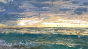 Artistic Seascape 2987x1330 Wallpaper