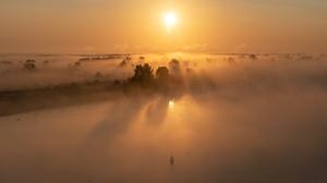 Fog Horizon Nature Sunrise 2560x1707 Wallpaper