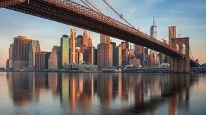 Bridge Brooklyn Bridge Building Manhattan New York Skyscraper Usa 2048x1293 Wallpaper