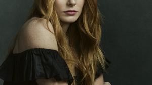 Abigail Cowen Women Actress Redhead Green Eyes Model Long Hair Women Indoors 2000x2500 Wallpaper