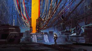Artwork Digital Art Science Fiction Astronaut Futuristic 2600x1276 Wallpaper