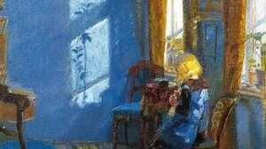 Artwork Painting Blue Sunlight Chair 5170x5804 Wallpaper