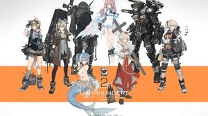 Miv4t Anime Anime Girls Animal Ears Horns Tail Wings 3350x2500 Wallpaper