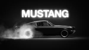 Ford Mustang Monochrome Smoke 1920x1080 Wallpaper