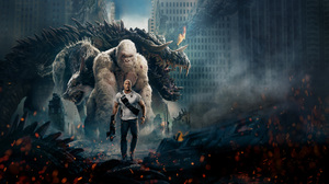 Animal Crocodile Dwayne Johnson Gorilla Monster Rampage Movie Wolf 7680x4320 Wallpaper