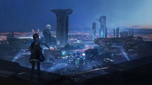 Artwork City Futuristic Cityscape Lee Su Yeon 1920x1144 Wallpaper