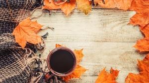 Coffee Cup Drink Leaf Still Life 4630x3060 Wallpaper