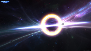 Black Hole Space Space Station 2560x1440 wallpaper