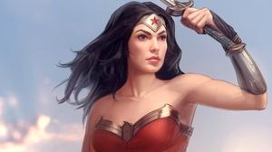 Black Hair Dc Comics Diana Prince Woman Warrior 2000x1407 Wallpaper