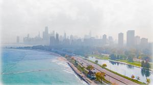 Chicago Architecture Skyline Aerial City Cityscape 3079x1765 wallpaper