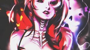 Halloween Happy Fan Art Artwork Horror Black Sclera Sakimichan 1200x1382 Wallpaper