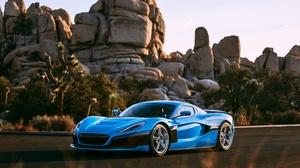 Car Blue Car Sport Car Supercar 4096x2731 Wallpaper
