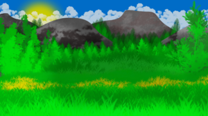Forest Illustration Drawing 1920x1080 Wallpaper
