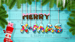 Christmas New Year Socks 3060x2040 Wallpaper