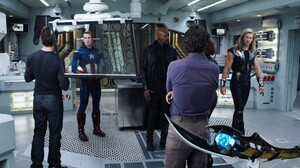 Movies The Avengers Thor Tony Stark Bruce Banner Nick Fury Captain America Chris Hemsworth Chris Eva 1920x1080 Wallpaper