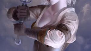 Emma Ronkainen Sword Video Game Characters Ciri Scars Video Game Girls Video Game Art Digital Art Ci 1920x2966 Wallpaper