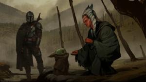 Mandalorians Ahsoka Tano Star Wars Galaxies Star War Jedi Fallen Order Disney Yoda Grogu Bounty Hunt 1919x808 Wallpaper