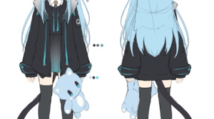 Anime Anime Girls Amashiro Natsuki Cat Ears Nekoha Shizuku Animal Ears Tail Blue Hair Blue Eyes 1300x1395 Wallpaper