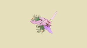 Evangelion Unit 01 Neon Genesis Evangelion Minimalism Rebuild Of Evangelion Flowers Robot Anime Guns 4080x2160 Wallpaper